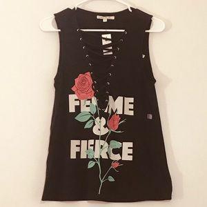 ✨NWT✨ Express Femme & Fierce Tank Top Cross Tie